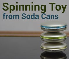 In this Instructable, I made a spinning toy from 6 steel soda cans.What& needed: 6 Steel Soda cans 2 x nuts Neodymium magnet Hot glue and permanent markers Glass surface like a table or mirror for spinning the toy Aluminum Can Crafts, Aluminum Cans, Metal Crafts, Pop Can Crafts, Crafts To Make, Fun Crafts, Summer Crafts, Tin Can Art, Soda Can Art