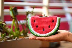 Cool watermelon wallet purse ♥ Hand craft