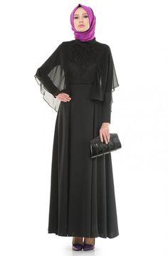 Doque Abiye Elbise-Siyah DO-A4-64021-12