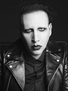 Hedi Slimane Shoots Marilyn Manson - along with Courtney Love, Kim Gordon and Ariel Pink - for Saint Laurent (see all the ads at the link)