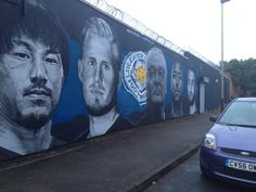 LCFC Shinji Okasaki, Kasper Schmeichel, Claudio Ranieri, Wes Morgan,Riyad Mahrez. Artist: Richard Wilson. Leicester City Football, Leicester City Fc, Richard Wilson, Sports Shops, Foxes, Mount Rushmore, Club, Live, Places