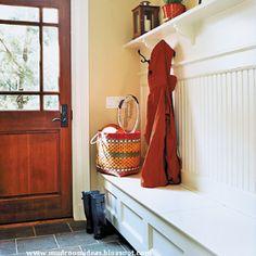 mud room - bench, hooks, shoe storage, knits?