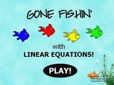 Gone Fishin' with Linear Equations