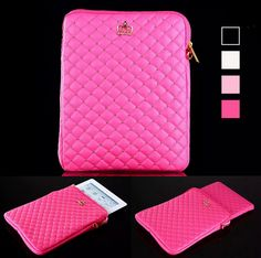 Luxury Bling iPad Mini 4 Pouch Bags Bling Leather Case For iPad Mini 1 2 3 4 Tablet Case