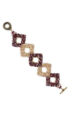 Bracelet with Swarovski Crystal Beads, Czech Fire-Polished Glass Beads and Dyna-Mites™ Seed Beads - Fire Mountain Gems and Beads