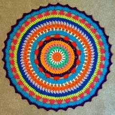 sunburst mandala free crochet pattern by oona linnett