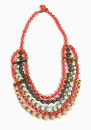 Nakato Necklace- Handcrafted Paper Beads, Ethically Harvested Horn, Made with love in Uganda