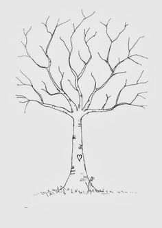 Fun DIY fingerprint tree template - just in time for some colorful autumn fingerprint leaves! Would be good to do at the beginning of the school year, our class family tree.The giving tree Printable fingerprint tree template to put whole class' finger pri Art For Kids, Crafts For Kids, Thumbprint Tree, Tree Templates, Leaf Template, Project Free, Art Plastique, Fall Crafts, Thanksgiving Crafts