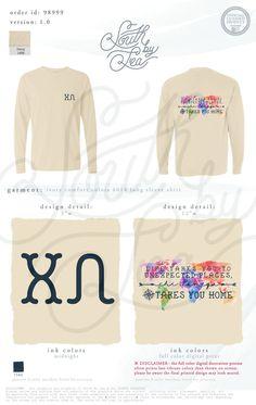 Chi Omega | Takes You Home | Rainbow Map T-Shirt Design | South by Sea | Greek Tee Shirts | Greek Tank Tops | Custom Apparel Design | Custom Greek Apparel | Sorority Tee Shirts | Sorority Tanks | Sorority Shirt Designs
