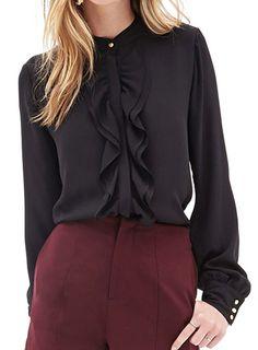 cute ruffle blouse