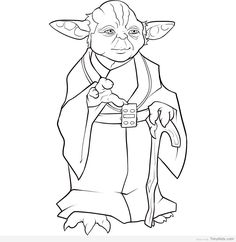 Simple Yoda Coloring Pages