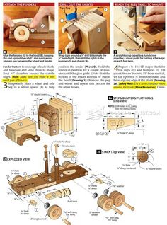 #1791 Wooden Truck and Trailer Plan - Children's Wooden Toy Plans and Projects