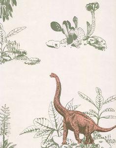 Dino Wallpaper-Pink Green - Sian Zeng — Sian Zeng