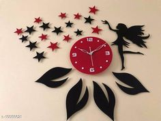 Clocks Trendy Acrylic Wall Clock Material: Plastic Pack: Pack of 1 Country of Origin: India Sizes Available: Free Size   Catalog Rating: ★4.1 (2055)  Catalog Name: Graceful Wall Clocks CatalogID_1798937 C127-SC1440 Code: 594-10056621-0711