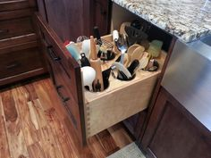 Discover smarter ways to use your kitchen cabinets and spice drawers with these ideas, products, and tips to make the most of your kitchen space.