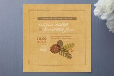 Rustic Pinecones Wedding Invitations $2.04  #WeddingInvitations #Weddings