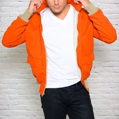 Super Star Jacket Orange now featured on Fab.