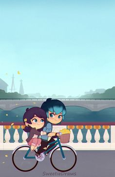 Supet cute phone wallpapers with Cat Blanc, Marinette and Luka on bike, and Kagami and Adrien Miraculous Ladybug Wallpaper, Miraculous Ladybug Funny, Meraculous Ladybug, Ladybug Comics, Mlb Wallpaper, Cat Noir, Super Cat, Cute Wallpapers, Phone Wallpapers