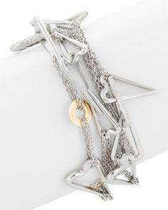 Franco Pianegonda 'Love' Silver & 18K Bracelet