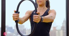 Equinox trainer Rachel Mariotti gives tips on how you can use a Pilates ring to tighten your inner thighs and strenghten your chest in the gym.