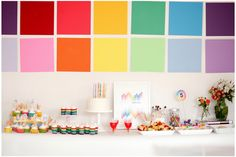 Colored party by Ashlee Raubach Photography