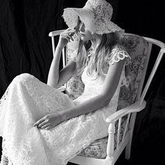 #ruedeseine Juliette Dress with Vintage Hat