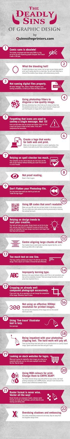 Business infographic & data visualisation Business infographic : Graphic Design Sins: 22 Mistakes That Novice Designers Ma… Infographic Description Business infographic : Graphic Design Sins: 22 Mistakes That Novice Designers Make – Infographic Source – - Graphisches Design, Graphic Design Tutorials, Graphic Design Inspiration, Tool Design, Layout Design, Corporate Design, Business Design, Corporate Brochure, Business Tips