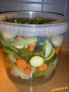 Nakladaná zelenina - bez sterilizácie