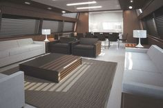 I chose this because of how great this area looks on a boat and the carpet then connecting to the tile flooring.  The couches also look perfect in this area because of the colors