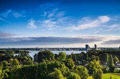 Kunstwerk: 'Rotterdam Nesselande  en Zeverhuizenplas' van Ricardo Bouman | Fotografie Rotterdam, Clouds, Celestial, Mountains, Sunset, Prints, Nature, Travel, Outdoor