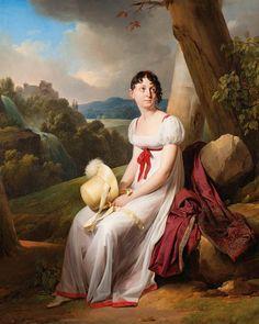 1807 Louis-Léopold Boilly - Portrait of Madame Saint-Ange Chevrier in a Landscape