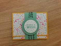 Party Wishes portomonnee - Het Knutsellab - Stampin Up #stampinup #crafts #knutselen #stempelen #giftcard