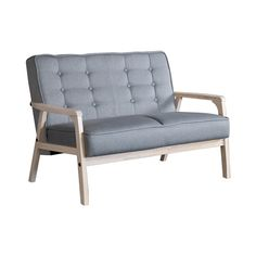 Simple, stylish and stellar—that's the best way to characterize this Prospector Loveseat. Its decidedly mid-century motif works wonderfully in today's contemporary interiors, adding a bit of nostalgic ...  Find the Prospector Loveseat, as seen in the Light Rustic Modernism Collection at http://dotandbo.com/collections/light-rustic-modernism?utm_source=pinterest&utm_medium=organic&db_sku=107465