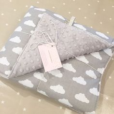 Our grey clouds baby blankets, super soft and cuddly. Also available in blue, black or white.