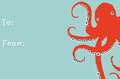GIFTS: Octopus Gift Tag nautical