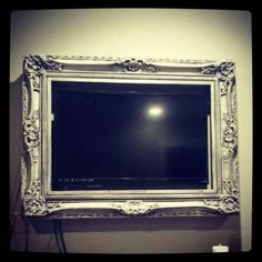 Frame your flat screen tv! Genious