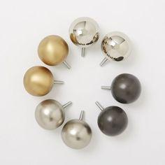 Metallic Sphere Finials