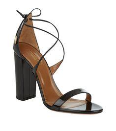 Aquazzura Linda 105 Patent Sandal | Harrods