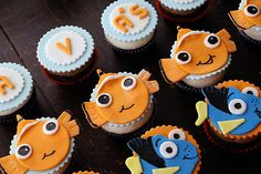 Finding Nemo cupcakes @Kate Small for your class :)
