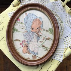 Vintage Holly Hobbie Framed Picture by MyVintagePoint on Etsy