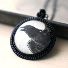 Handmade Gifts | Independent Design | Vintage Goods Vintage Raven Illustration Necklace - New Arrivals