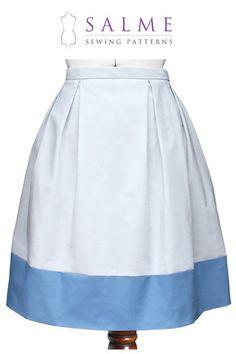 Digital Sewing Pattern - Color Block Pleat Skirt