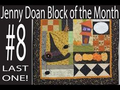 Jenny Doan Block of the Month (BOTM) #8- Missouri Star Quilt Company - YouTube