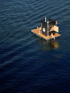 There's nothing quite so invigorating as stepping out of a hot sauna and jumping into brisk waters. Unless, of course, the sauna happens to be a fully motorized vessel traveling around those … Saunas, Sweat Lodge, Seattle Waterfront, Lakefront Property, Floating House, Boat Rental, Lake George, Animal Projects, Boat Tours