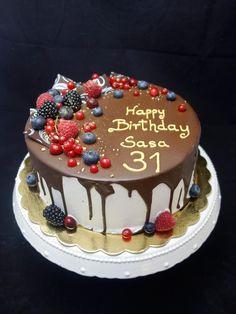 Cake Recipes Easy Chocolate Baking - New ideas Chocolate Cake Recipe Easy, Chocolate Recipes, Cake Chocolate, Pastel Chocolate, Food Cakes, Naked Cakes, Donut Decorations, Novelty Birthday Cakes, Birthday Cupcakes