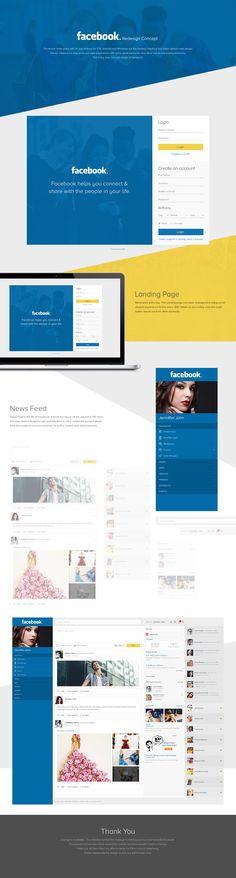 Facebook Redesign Concept on Behance