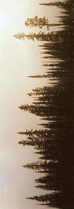 Tree Line Silhouette Tattoo Treeline silho