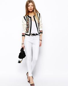 ASOS | ASOS Jacket With Statement Embroidery and Rope Detail at ASOS