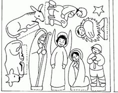Jezus geboren, free printable