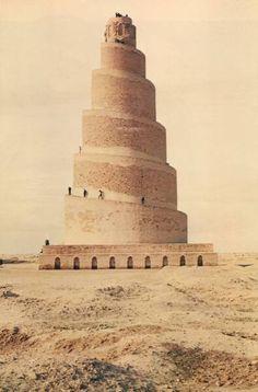 The Great Mosque of Samarra, Iraq, 9th century